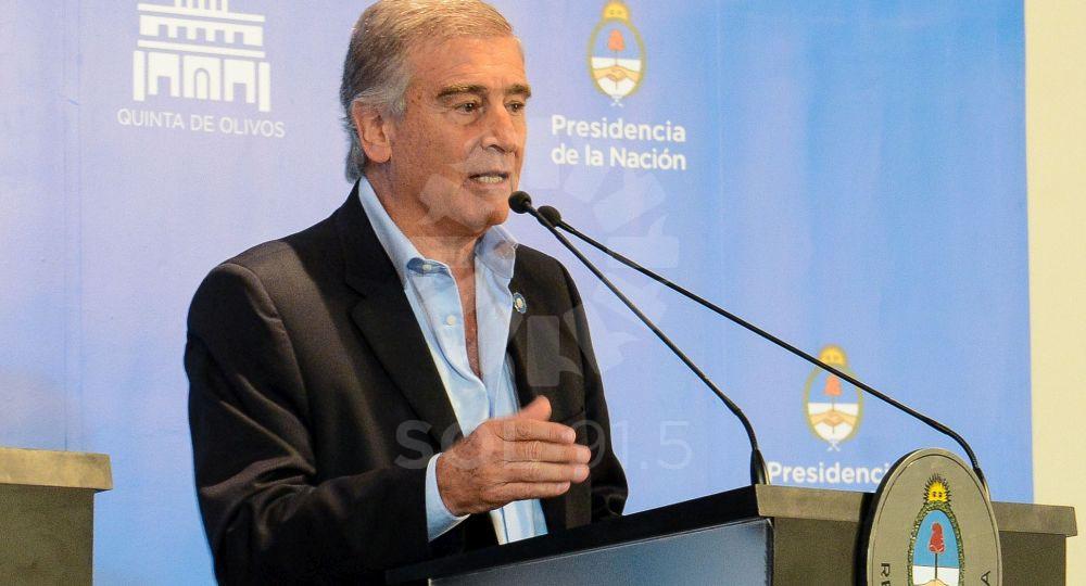 El Ministro de Comunicaciones, Oscar Aguad,