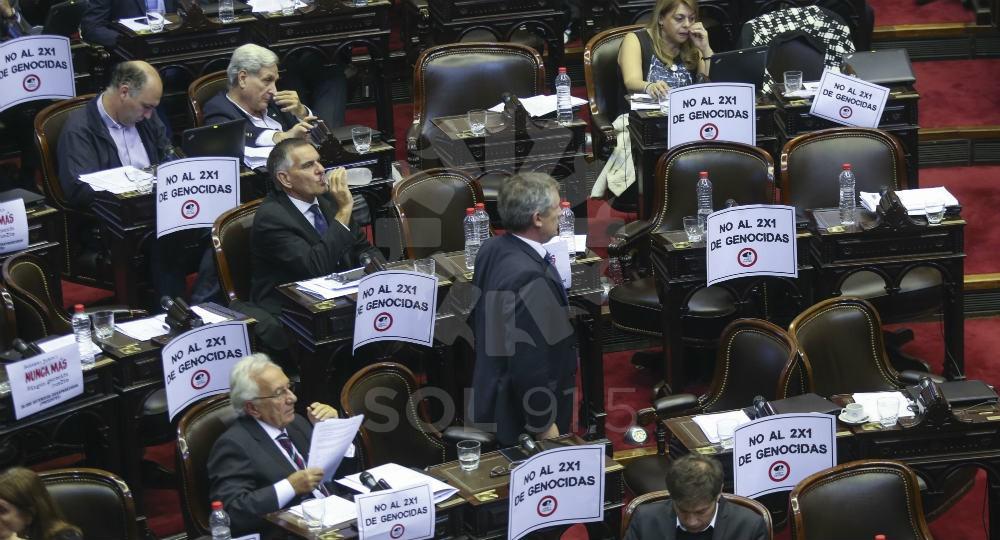 La Cámara de Diputados durante la votación.