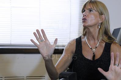 ROSARIO-14-01-2014- La Jueza Alejandra Rodenas ofrece una conferencia de prensa para informar sobre la causa que investiga el asesinato del empresario narco Luis Medina y su novia.  FOTOS: AndrŽs Macera